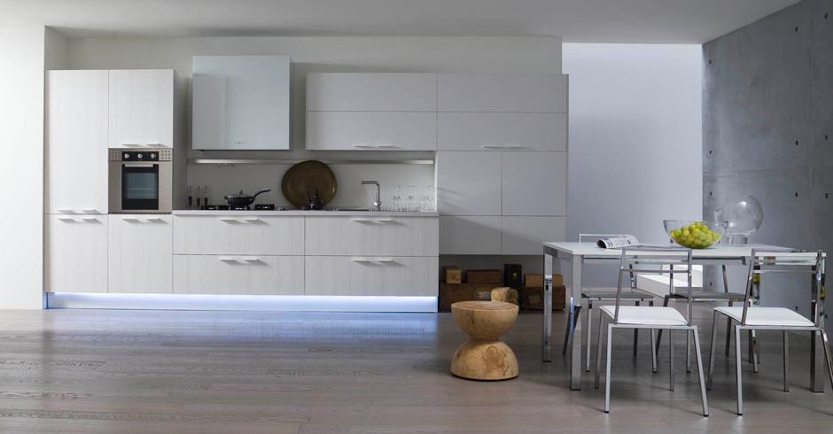 Cucine Bianche Moderne. Elegant Cucina Moderna Bianca E Legno With ...